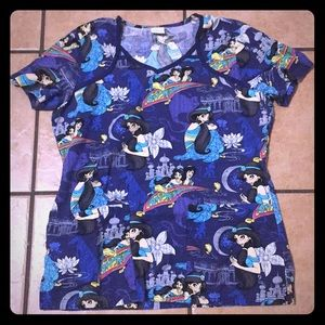 Snow White Scrub Top