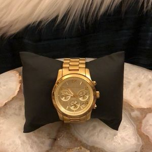 Michael Kors Oversized Gold-Tone Watch