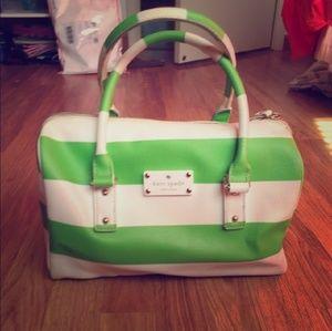 Kate Spade green & white purse