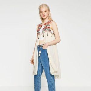 Zara embroidered vest