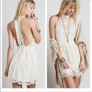 Free People lace backless dress