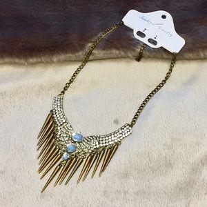 Jewelry - MNWT Edgy Glam Statement Necklace