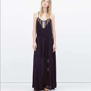 Zara long beaded dress