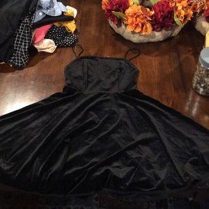 Black velvet dress from Urban Outfitters