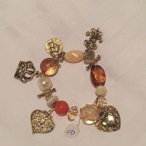 Brown hue charm bracelet