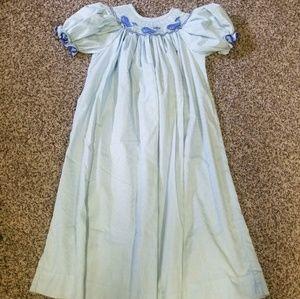 Size 6x whale smocked dress