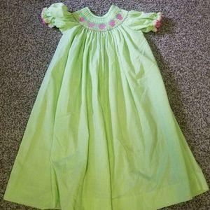 Size 4/5 strawberry smocked dress