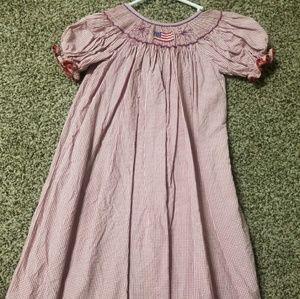 Size 4/5 American flag smocked dress