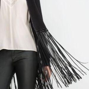NWOT Zara Suede Bolero Jacket, Black