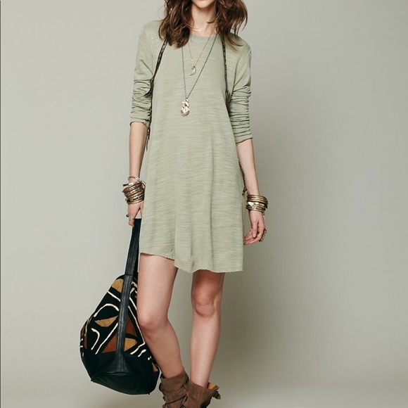 e50a03458d Free People Dresses & Skirts - Free People beach army green swing dress