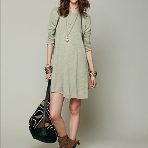 Free People beach army green swing dress