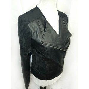Cupcakes and Cashmere Faux Suede Leather Jacket