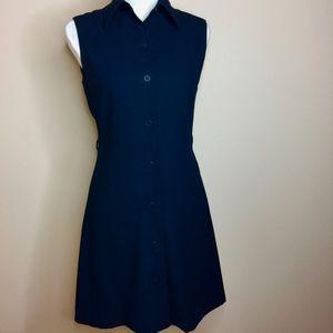 Navy Blue Button Dress