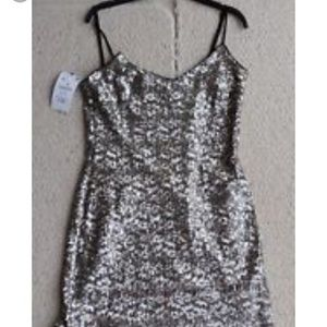 Zara Sequin Slip Dress