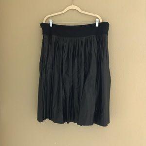 Melissa McCarthy Pleated Leather Skirt