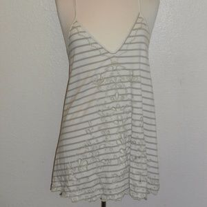 FREE PEOPLE GRAY AND WHITE TANK TOP SIZE SMALL