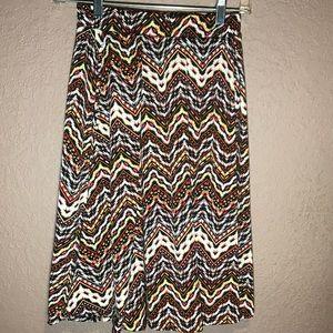 LuLaRoe Madison skirt size xs multi color