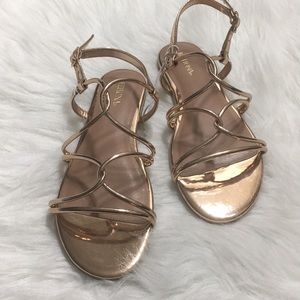 Merona Rose Gold Strappy Sandals