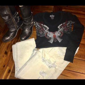 American Eagle Tom Girl Jean Size 0