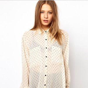 American Apparel: Button Up Polka Dot Blouse