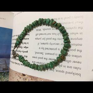 Treasures Genuine Turquoise Chips Beaded Bracelet