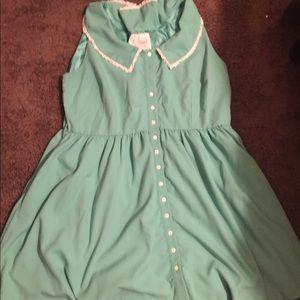 Mint vintage sleeveless dress