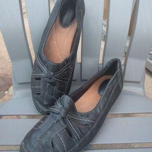 Clarks Leather Flats Women's Sz 11