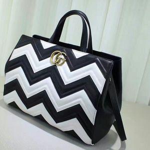 Gucci Marmont Zebra Shoulder Bag
