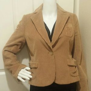 Banana Republic Tan Corduroy Jacket Blazer Sz 4  A