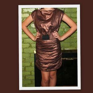 Bryce & Bouji Futuristic Copper Dress