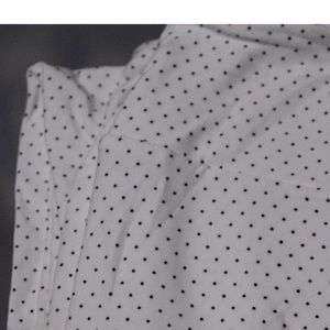 LuLaRoe TC Leggings White with Black Polka Dot