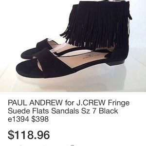 Amazing J. Crew collection suede tassel sandals