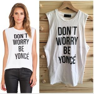 "Stylestalker ""Don't Worry Be Yonce"" Muscle Tank XS"