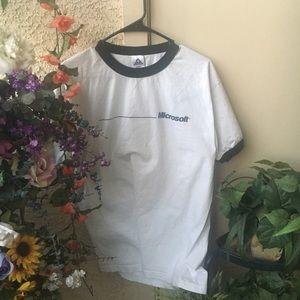 Vintage Microsoft Ringer T Shirt
