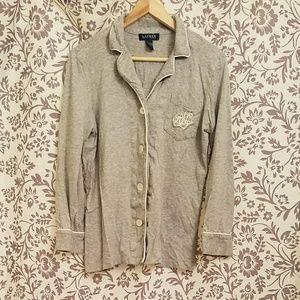 🔥monogrammed Ralph Lauren pajama top 💜