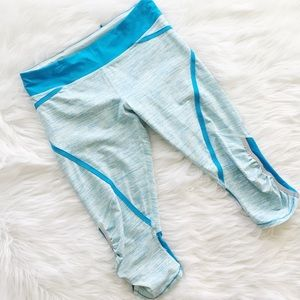 Lululemon Run Pace Crop Reflective Legging