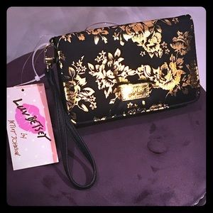 Betsey Johnson Floral Embossed Wristlet Clutch