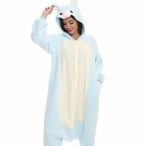 Light Blue Alpaca Kigurumi Pajama