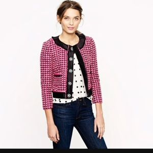 NWT j.crew collection lady tweed jacket in pink