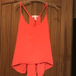 Tops - Neon pink tank. Size large