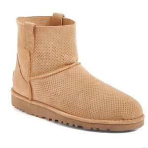 UGG • NWOB unlined mini perforated boot