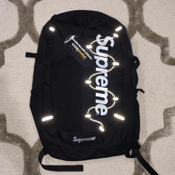 bdac5d8f474 Supreme Bags | Ss17 Black 3m Reflective Backpack | Poshmark