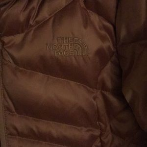 Rose Gold Northface Puffer Coat