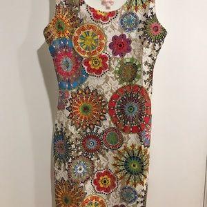 Multi colored contour dress