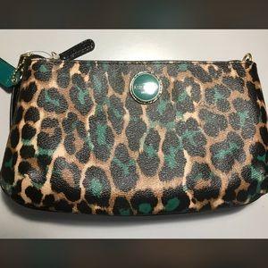 Coach Ocelot Park Leopard Print Jade