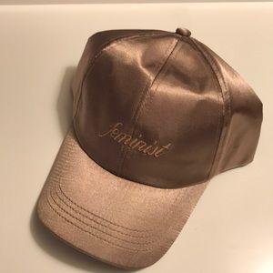 "Satin ""Feminist"" Baseball Cap"