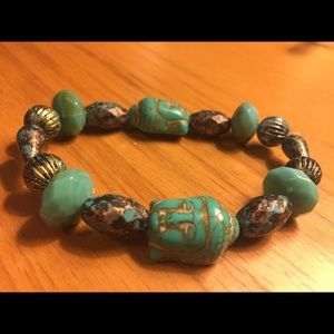 🌿🍃🎍Turquoise Handcrafted Buddha Bracelet🌿🍃🎋