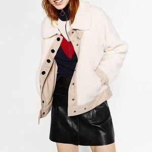 zara fleece style jacket