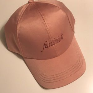"Dusty Rose ""Feminist"" Baseball Cap"