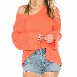 Free People La Brea Coral Sweater